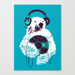 Record Bear Canvas Print
