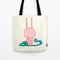 Billy the Bunny and Sly the Snake Tote Bag