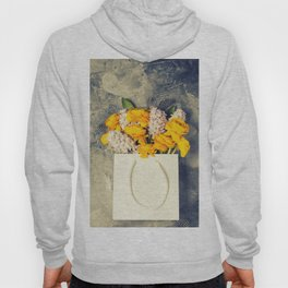 Beautiful spring flowers and Easter decorations Hoody