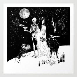 Black Wedding Art Print