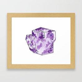 Flourite Cube Portrait Framed Art Print