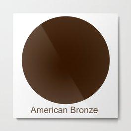 American Bronze Metal Print