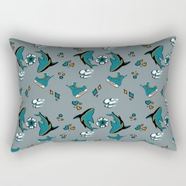 Sharks n' Skates Rectangular Pillow