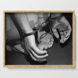 Handcuffed Serving Tray
