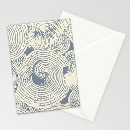 Shells in Cream and Blue Stationery Cards