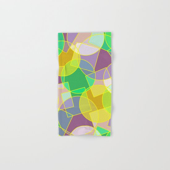Colorful abstract geometric pattern Hand & Bath Towel