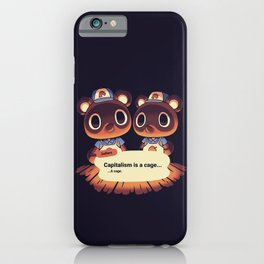 Capitalism is a Cage Timmy & Tommy Animal Crossing iPhone Case