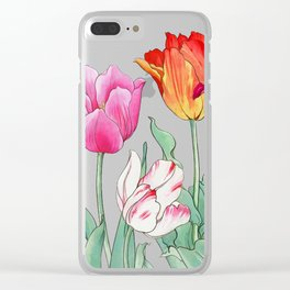 Tulips garden Clear iPhone Case