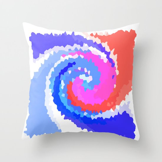 Twirly Whirly  Throw Pillow