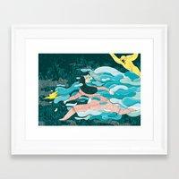 jungle Framed Art Prints featuring Jungle by Elisa Macellari