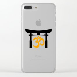 Tori Gate Silhouette and Om Clear iPhone Case