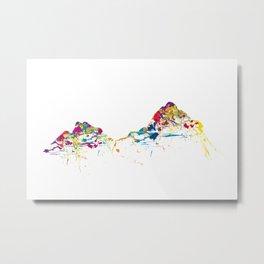MOUNT MYTHEN MOUNTAINSPLASH color Metal Print