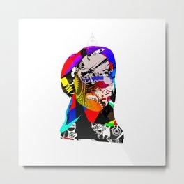 Mask Transformation Metal Print