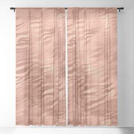 Tiger Copper Fur Sheer Curtain