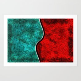 Blood and Water Art Print