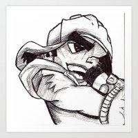 Brothers of Hip Hop 1 Art Print