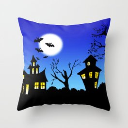 Blue Sky Of Nightmare Throw Pillow