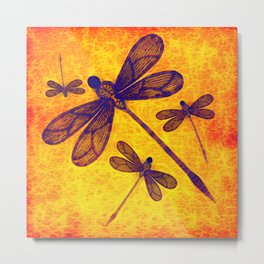 Radioactive dragonflies Metal Print