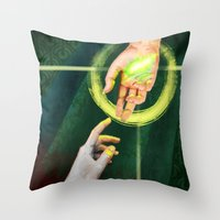 "dragon age inquisition Throw Pillows featuring Dragon Age Inquisition - Hope by Barbara ""Yuhime"" Wyrowińska"