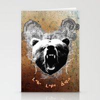 medicine Stationery Cards featuring Bear Medicine by Cree Thunder