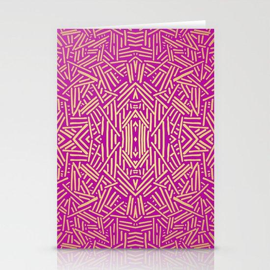 Radiate (Yellow/Ochre Raspberry) Stationery Cards