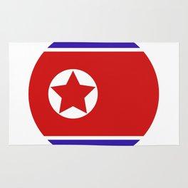 north korea flag Rug