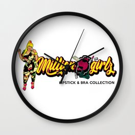 Million $$ Girl'z Lipstick & Bra Collection Wall Clock