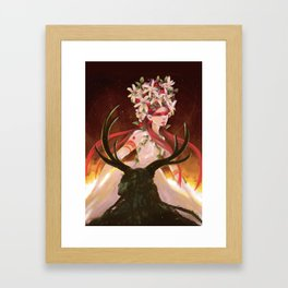 May Queen and The Green Man Framed Art Print