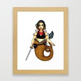 Mermaid Char Framed Art Print