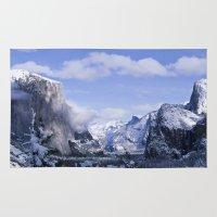 yosemite Area & Throw Rugs featuring Yosemite by Ian Bevington
