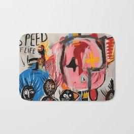 """The speed of life"" Street art graffiti and art brut Bath Mat"