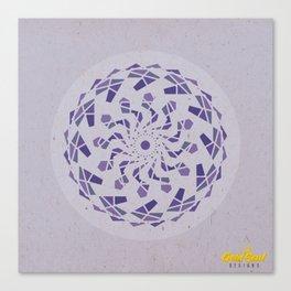 Third-Eye Chakra Mandala Canvas Print