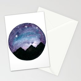 Starry Night - Watercolor Galaxy  Stationery Cards
