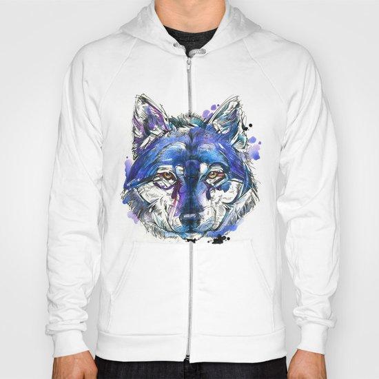 Indigo Wolf Hoody