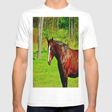 Equine Beauty MEDIUM Mens Fitted Tee White
