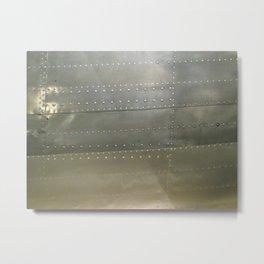 Vintage Aircraft Silver Fuselage Metal Print