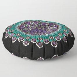 Purple and Teal Mandala Floor Pillow