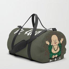 Be Kind Little Buddha Cute Smiling Buddha over mandala Duffle Bag