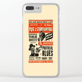 Poe and the Starfighters Clear iPhone Case