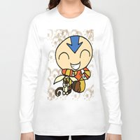 aang Long Sleeve T-shirts featuring PowerPuff Aang by auroranq