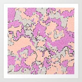 Cartografía de Orquídea  Art Print