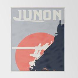 Final Fantasy VII - Visit Junon Propaganda Poster Throw Blanket