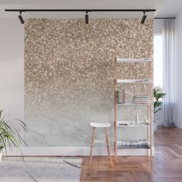 Sparkle - Gold Glitter and Marble Wall Mural