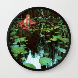 Waterlilies Wall Clock