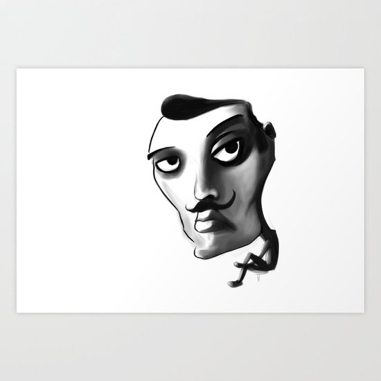 Imposter with a fake M... Art Print