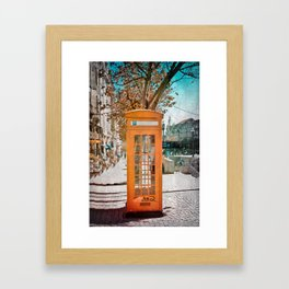 Phone booth Framed Art Print