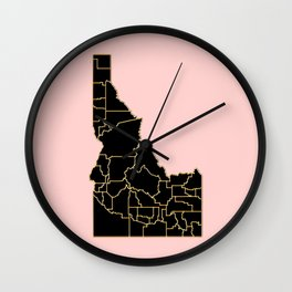 Idaho map Wall Clock