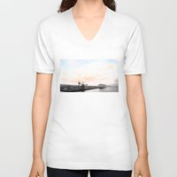 industrial V-neck T-shirts featuring industrial V. by zenitt