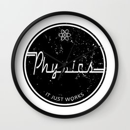 Physics Works Wall Clock