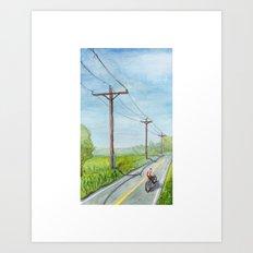 Afternoon Bike Ride Art Print